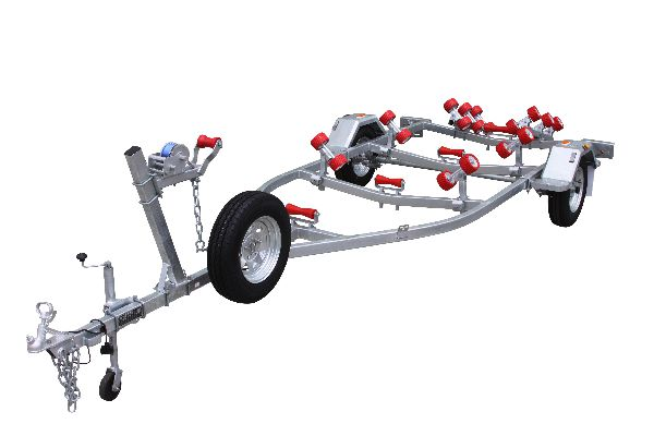 Five and one half meter Boat Trailer with rollers