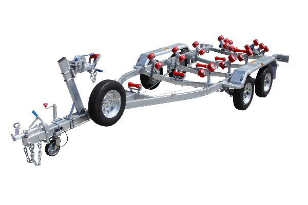 Six Meter Braked Tandem Boat Trailer With Rollers