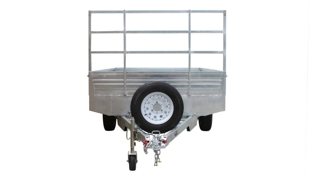 Flat Top 12 x 7 Trailer Front View