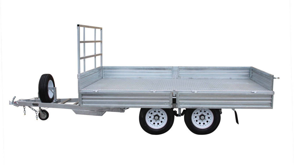 Flat Top 12 x 7 Trailer Side View